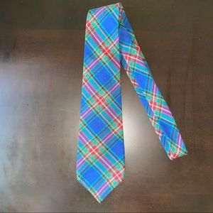 Gap blue and green plaid tie